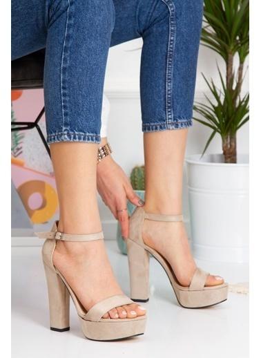 Derithy Lakove Topuklu Ayakkabı-Platın-Byc7308 Ten